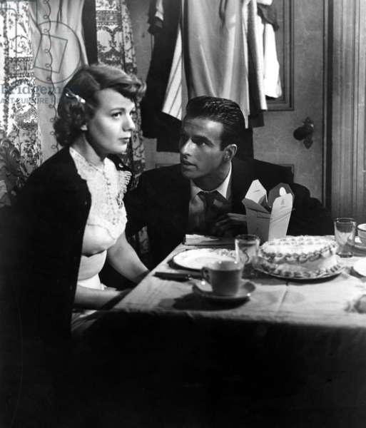 A PLACE IN THE SUN, Shelley Winters, Montgomery Clift, 1951.