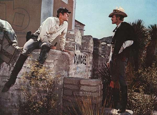 MAJOR DUNDEE, Charlton Heston, Richard Harris, 1965.