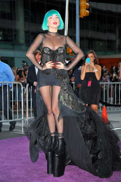 Lady Gaga (wearing a custom Mugler outfit and Noritaka Tatehana shoes) at arrivals for The 2011 CFDA Fashion Awards, Alice Tully Hall at Lincoln Center, New York, NY June 6, 2011. Photo By: Gregorio T. Binuya/Everett Collection
