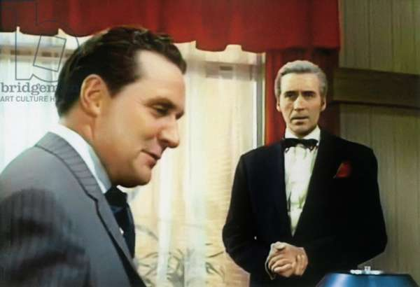 THE AVENGERS, (from left): Patrick Macnee, Christopher Lee, 'Never, Never Say Die', (Season 5, aired March 18, 1967), 1961-69.