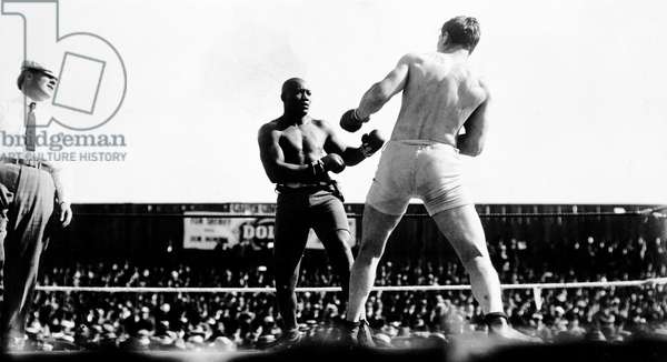 UNFORGIVABLE BLACKNESS: THE RISE AND FALL OF JACK JOHNSON, Jack Johnson fighting Al Kaufmann in 1909, 2004, (c) Florentine Films/courtesy Everett Collection