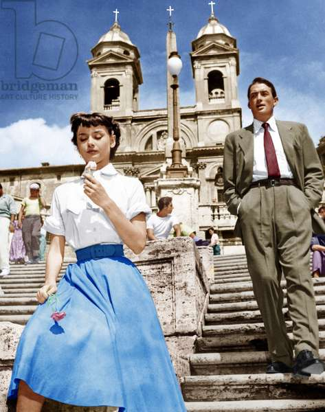 Vacances romaines: ROMAN HOLIDAY, from left: Audrey Hepburn, Gregory Peck, 1953