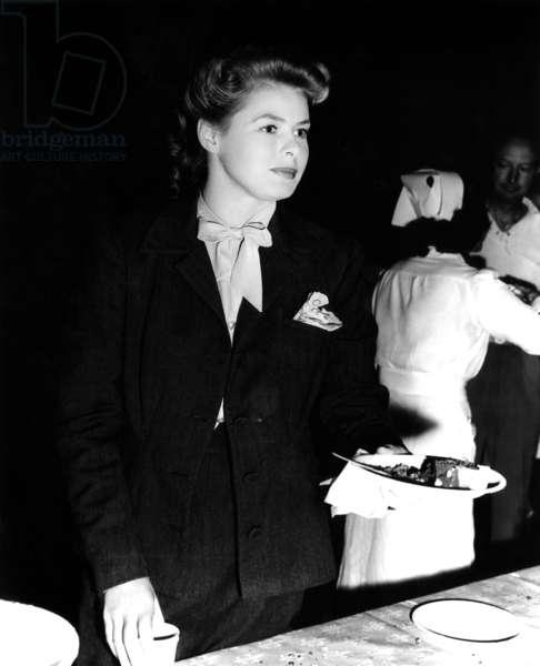 Ingrid Bergman: SPELLBOUND, Ingrid Bergman, at her 30th birthday party, on-set, August 29, 1945