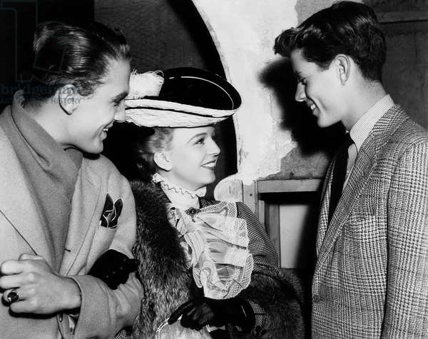 John F. Kennedy: NICE GIRL?, John F. Kennedy, right, visiting Robert Stack, Margaret Sullavan, on-set, 1941