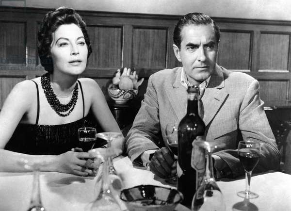 Le soleil se leve aussi: THE SUN ALSO RISES, from left, Ava Gardner, Tyrone Power, 1957, TM & Copyright ©20th Century Fox Film Corp./courtesy Everett Collection