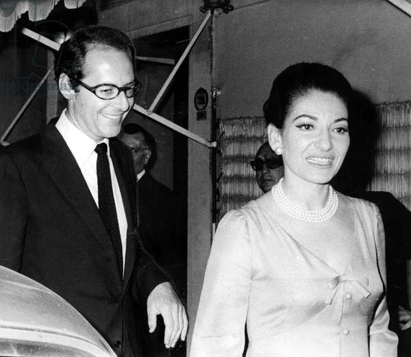Franco Rossellini with Maria Callas in Rome, 1969