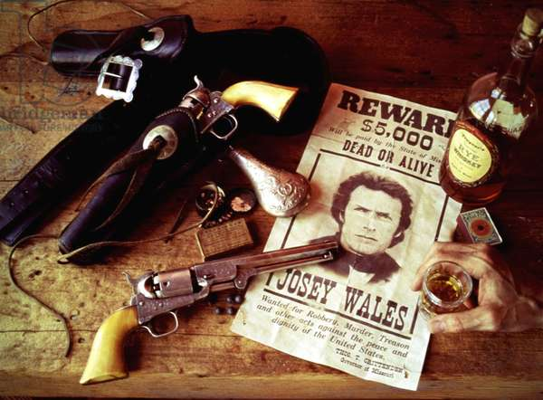 THE OUTLAW JOSEY WALES, Clint Eastwood, 1976, wanted poster