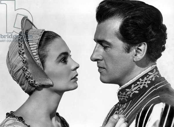 La Reine vierge: YOUNG BESS, Jean Simmons, Stewart Granger, 1953.