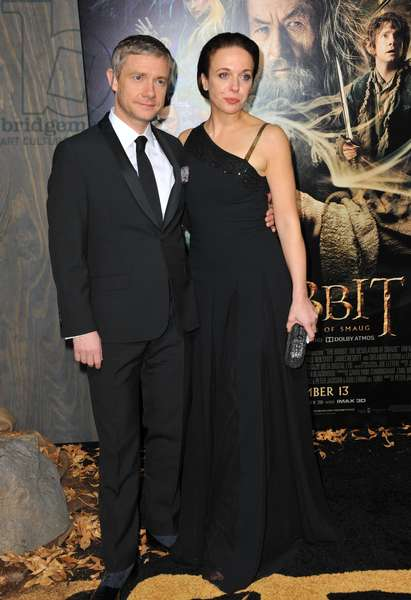 Amanda Abbington, Martin Freeman at arrivals for THE HOBBIT: THE DESOLATION OF SMAUG Premiere, Dolby Theater, Los Angeles, CA December 2, 2013. Photo By: Dee Cercone/Everett Collection