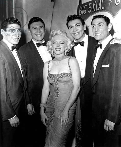 Marilyn Monroe with the Ames Brothers