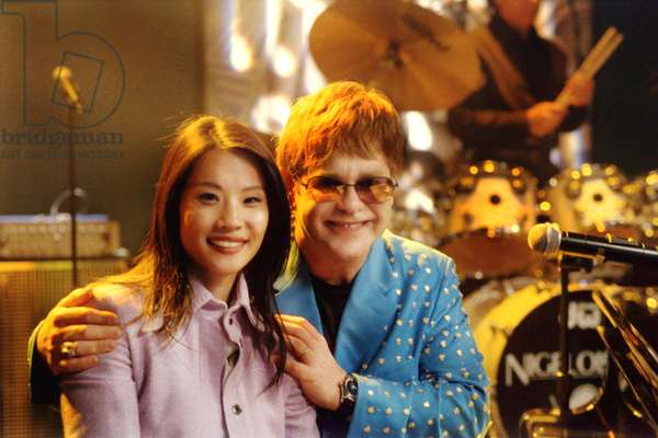 ALLY MCBEAL, Lucy Liu, Elton John, episode 'I Want To Love', airing 11/26/01, 5th Season, 1997-2002, TM and Copyright © 20th Century Fox Film Corp. All rights reserved.