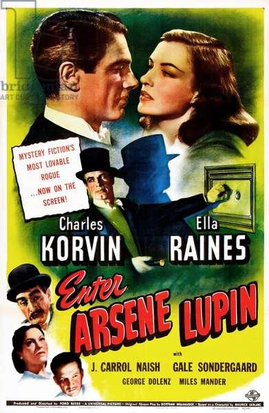 ENTER ARSENE LUPIN: ENTER ARSENE LUPIN, US poster, top from left: Charles Korvin, Ella Raines, bottom left from top: J. Carrol Naish, Gale Sondergaard, George Dolenz, 1944