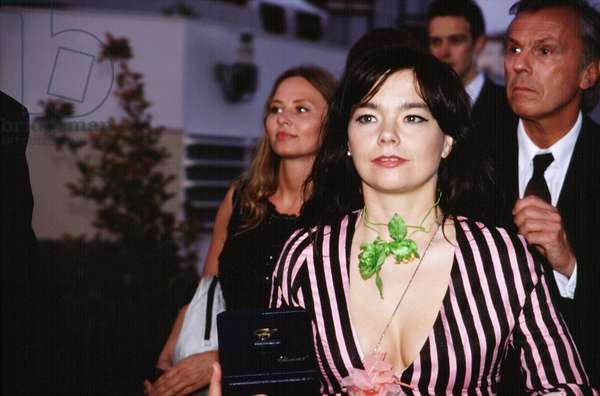 Bjork at Cannes Film Festival, 2000, by Thierry Carpico