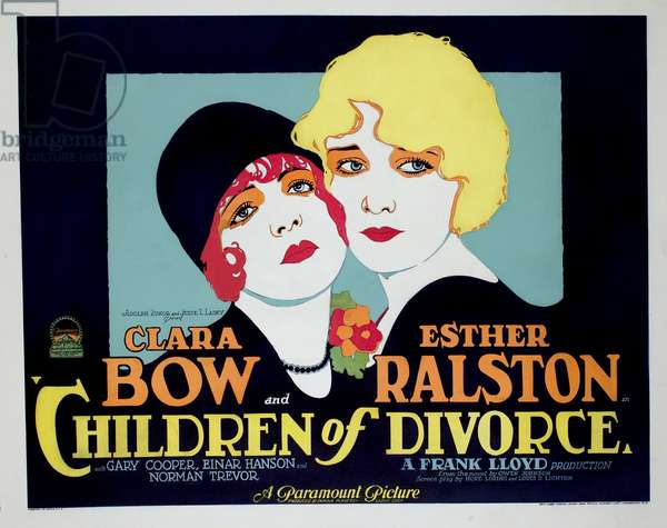 Les enfants du divorce: CHILDREN OF DIVORCE, Clara Bow, Esther Ralston, 1927.