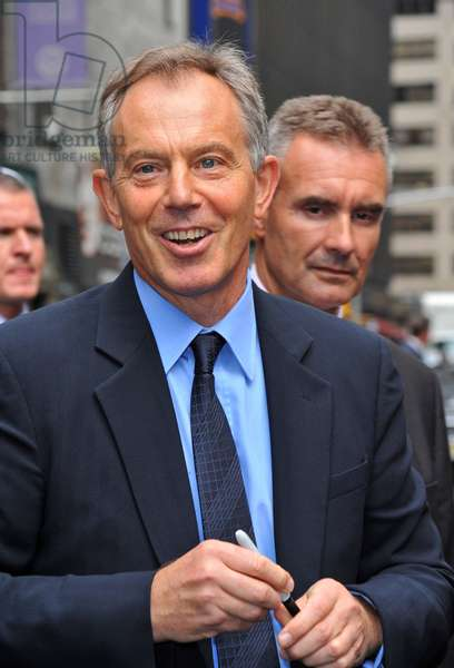 Ex-Prime Minister Tony Blair at talk show appearance for The Late Show with David Letterman - TUE, Ed Sullivan Theater, New York, NY September 8, 2009. Photo By: Gregorio T. Binuya/Everett Collection