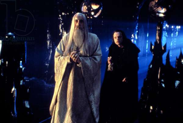 THE LORD OF THE RINGS: TWO TOWERS, Christopher Lee, Brad Dourif, 2002, (c) New Line/courtesy Everett Collection