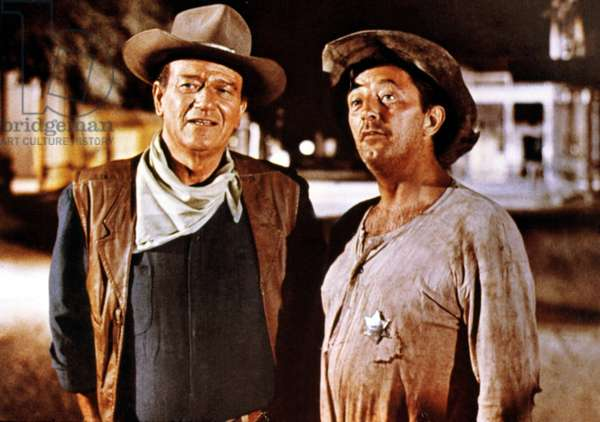 El Dorado, John Wayne, Robert Mitchum, 1966 (photo)