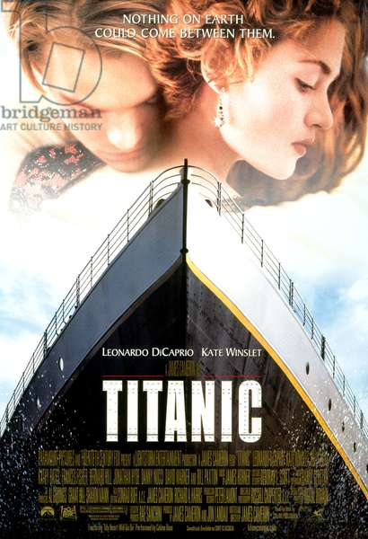 TITANIC, Leonardo di Caprio, Kate Winslet, 1997. TM and Copyright (c) 20th Century Fox Film Corp. All rights reserved. Courtesy: Everett Collection.