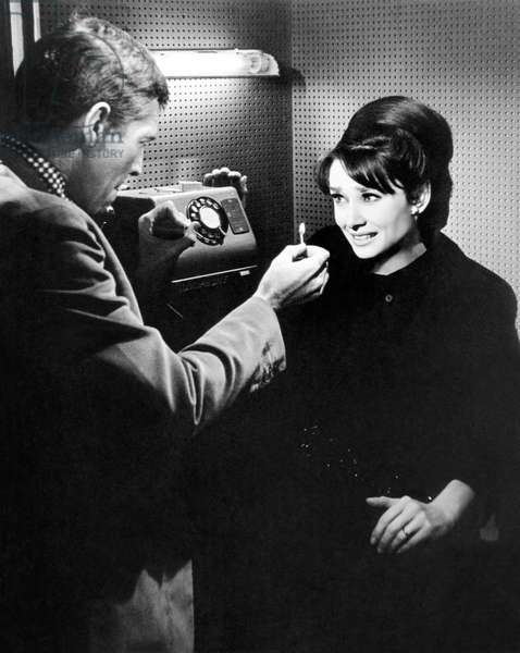 Charade: CHARADE, from left: James Coburn, Audrey Hepburn, 1963