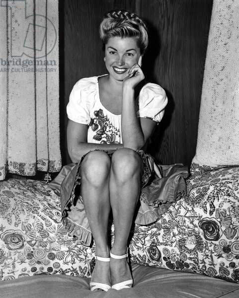 ESTHER WILLIAMS in a peasant blouse, 1945.