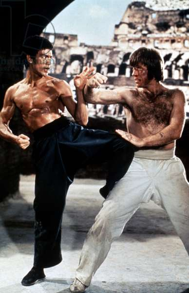RETURN OF THE DRAGON, Bruce Lee, Chuck Norris, 1972