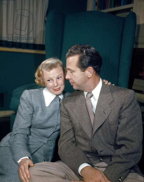 June Allyson with husband Dick Powell, late 1940s.