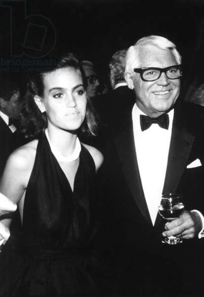 JENNIFER GRANT with father CARY GRANT, 1980s