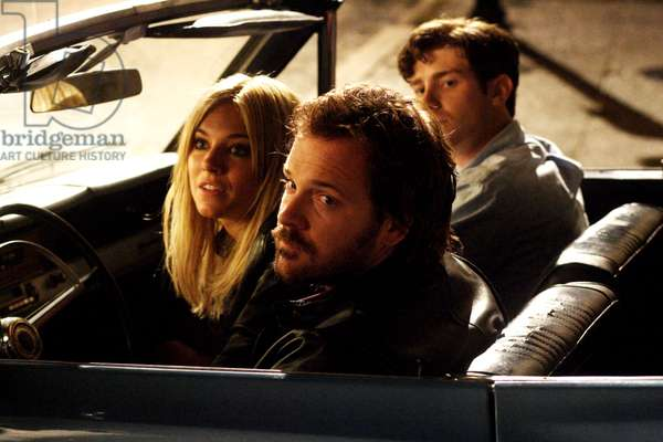 THE MYSTERIES OF PITTSBURGH, from left: Sienna Miller, Peter Sarsgaard, Jon Foster (back), 2008. Ph: Bruce Birmelin/©Peace Arch Entertainment Group/Courtesy Everett Collection