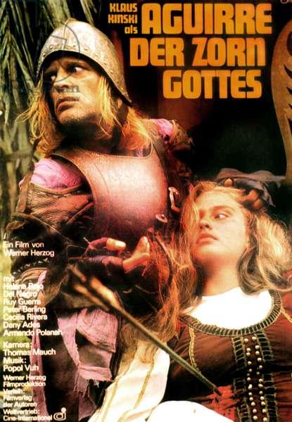AGUIRRE: THE WRATH OF GOD, (aka AGUIRRE, DER ZORN GOTTES), from left: Klaus Kinski as Aguirre, Cecilia Rivera, 1972