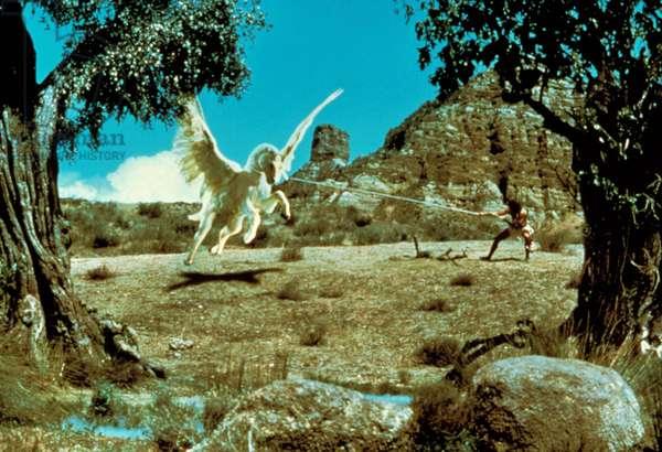 CLASH OF THE TITANS, Harry Hamlin as Perseus & Pegasus, 1981