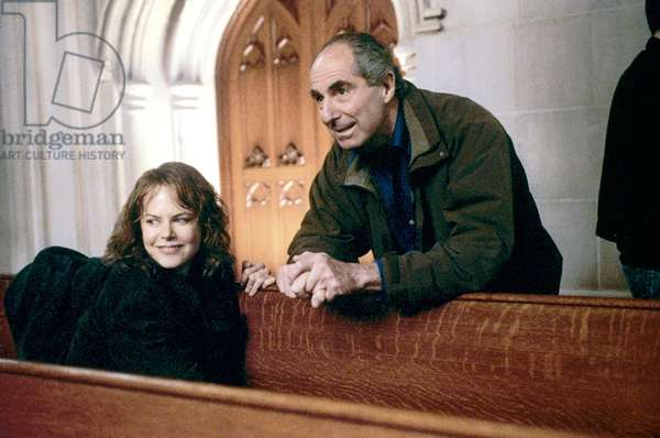 Nicole Kidman et Philip Roth: THE HUMAN STAIN, Nicole Kidman, writer Philip Roth on the set, 2003, (c) Miramax/courtesy Everett Collection