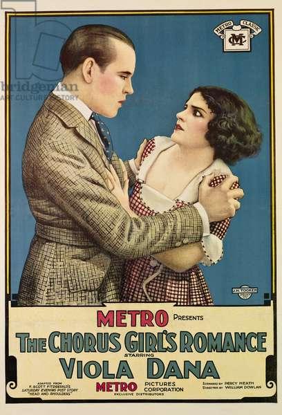 THE CHORUS GIRL'S ROMANCE: THE CHORUS GIRL'S ROMANCE, from left, Gareth Hughes, Viola Dana, 1920