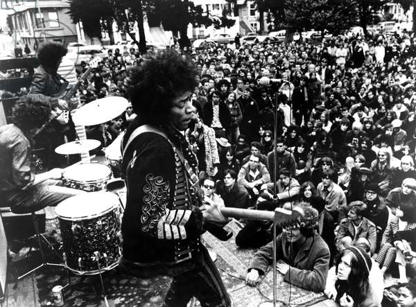 JIMI HENDRIX, Jimi Hendrix in Berkeley concert in 1970, 1973 documentary