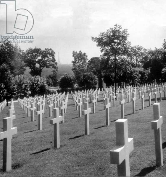 World War I, American military cemetery at Sures, France, 1919: World War I, American military cemetery at Sures, France, 1919
