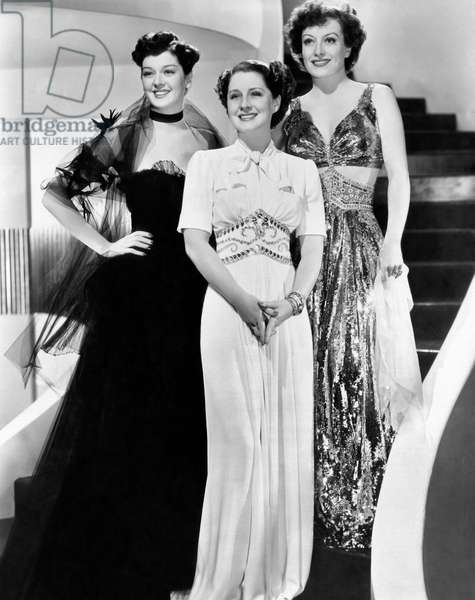 Femmes: THE WOMEN, from left: Rosalind Russell, Norma Shearer, Joan Crawford, 1939