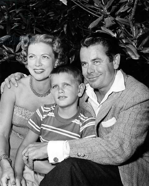 ELEANOR POWELL, son PETER FORD and husband GLENN FORD, early 1950s