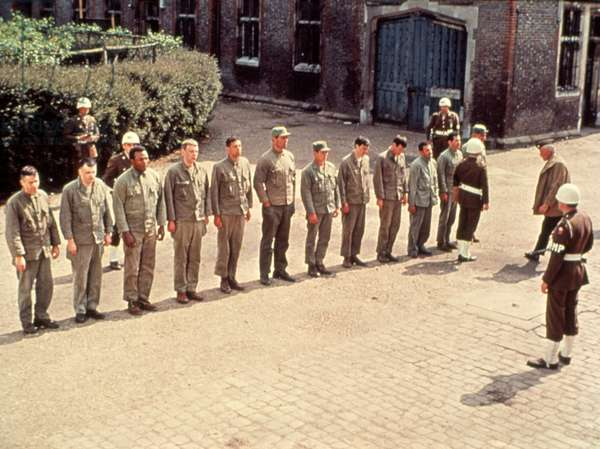 THE DIRTY DOZEN, John Cassavetes, Jim Brown, Donald Sutherland, Clint Walker, Charles Bronson, Lee Marvin, 1967