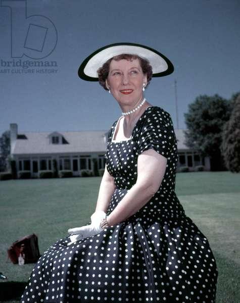 Mamie Eisenhower, 1950s.