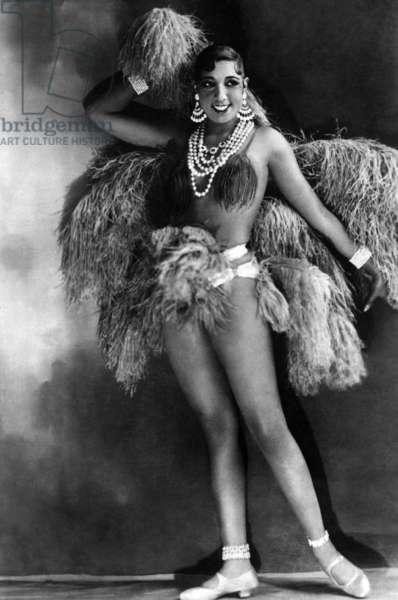 Josephine Baker in LA FOLIE DU JOUR revue at the Folies-Bergere, Paris, 1926-1927