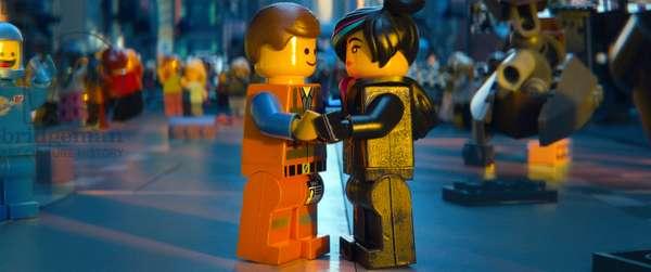 THE LEGO MOVIE, from left: Emmet Brickowoski (voice: Chris Pratt), Wyldstyle (voice: Elizabeth Banks), 2014. ©Warner Bros. Pictures/courtesy Everett Collection