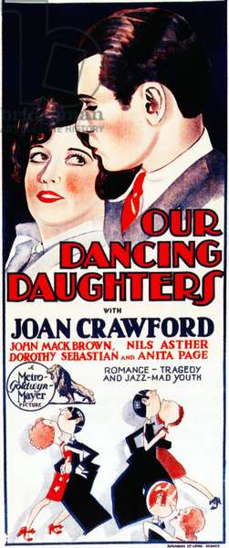 Les nouvelles vierges: OUR DANCING DAUGHTERS, Joan Crawford, Johnny Mack Brown, 1928
