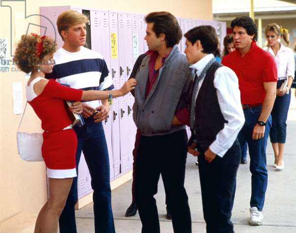 JUST ONE OF THE GUYS, Deborah Goodrich, William Zabka, Clayton Rohner, Joyce Hyser, 1985, (c) Columbia/courtesy Everett Collection