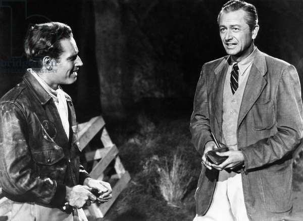 SECRET OF THE INCAS, Charlton Heston, Robert Young, 1954
