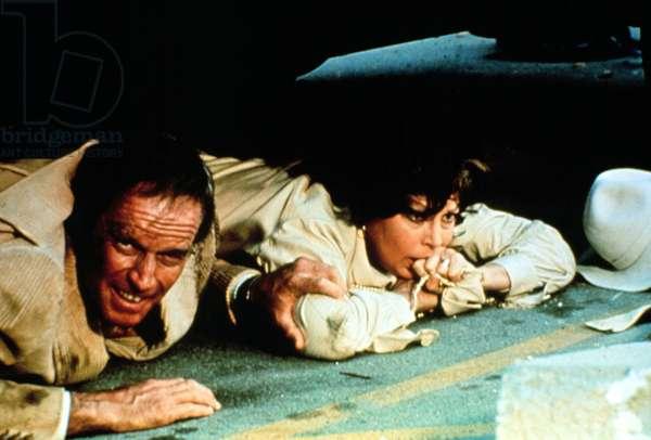EARTHQUAKE, Charlton Heston, Ava Gardner, 1974.