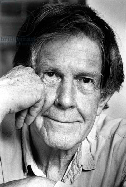 JOHN CAGE, a portrait of the music composer, in 1991.