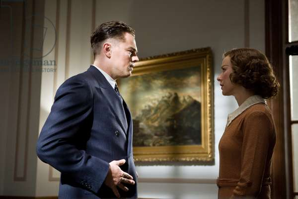 J.Edgar: J. EDGAR, l-r: Leonardo DiCaprio (as J. Edgar Hoover), Naomi Watts (as Helen Gandy), 2011, ph: Keith Bernstein/©Warner Bros. Pictures/courtesy Everett Collection