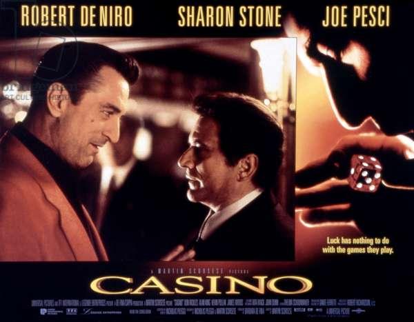CASINO, Poster Art, Robert De Niro, Joe Pesci, 1995 © Unversal / Courtesy Everett Collection