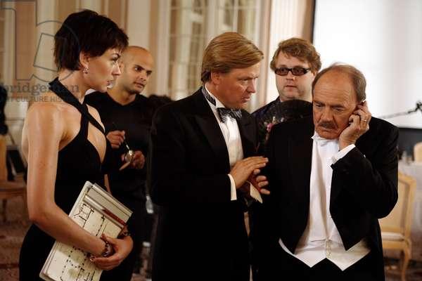 DER GROSSE KATER, front, from left: Christiane Paul, Justus von Dohnanyi, Bruno Ganz, 2010. ©Central Film/Courtesy Everett Collection