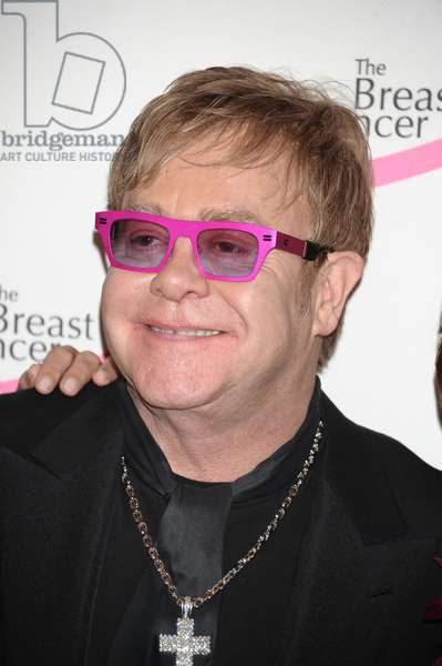 Elton John at arrivals for Tickled Pink! Hot Pink Party Benefit for The Breast Cancer Research Foundation, Waldorf-Astoria Hotel, New York, NY April 14, 2011. Photo By: Rob Rich/Everett Collection