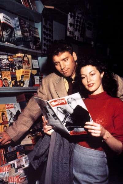 Burt Lancaster, Ava Gardner at the time of THE KILLERS, 1946